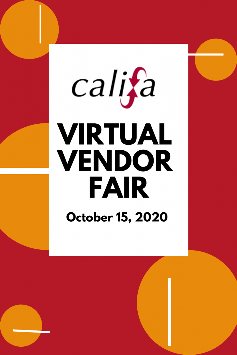 Califa Virtual Vendor Fair, Thursday, October 15, 2020