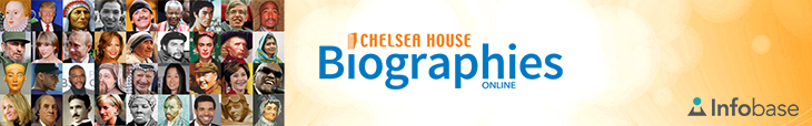 Chelsea House Biographies Online banner