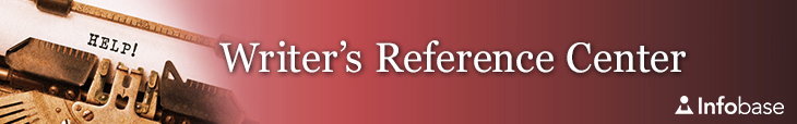 Writer's Reference Center banner